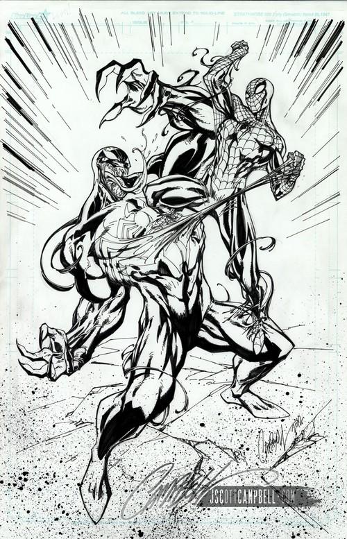 J scott campbell dessine spidey pour disney - Coloriage venom ...
